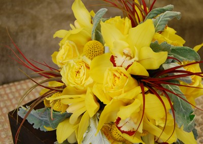 Yellow Lilly Bouquet