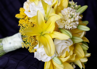 Yellow Lilly Wedding Bouquet