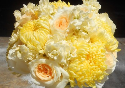 Pale Yellow Wedding Bouquet