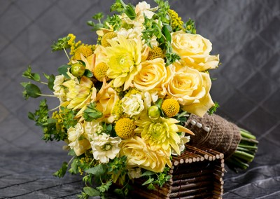 Bright Yellow Wedding Bouquet