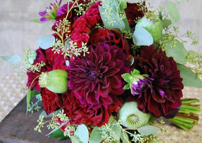 Red and Burgundy Wedding Bouquets 7