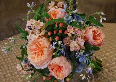 Peach Wedding Bouquet 18