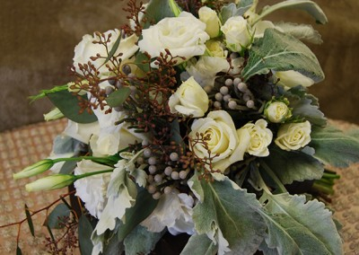 White and Ivory Wedding Bouquets 23