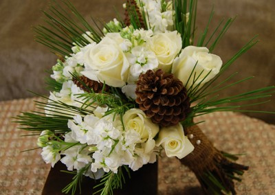White and Ivory Wedding Bouquets 22