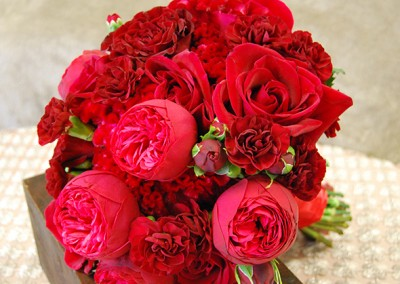 Red and Burgundy Wedding Bouquets 5