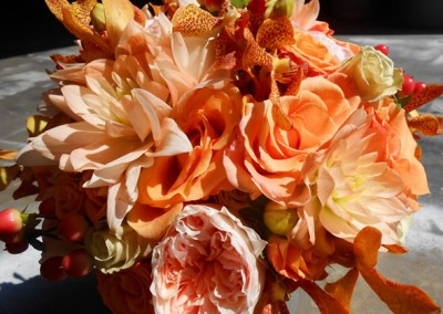 Peach Wedding Bouquet 14