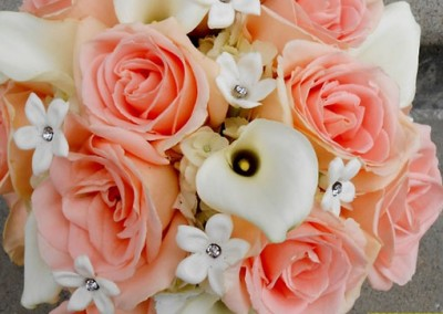 Peach Wedding Bouquet 13