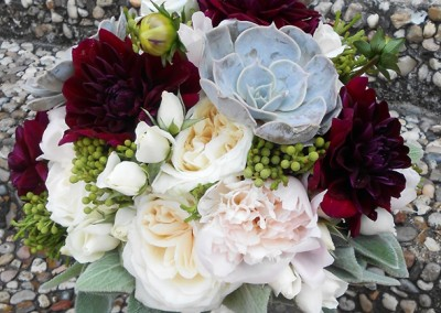 Red and Burgundy Wedding Bouquets 3