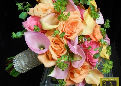 Peach Wedding Bouquet 12