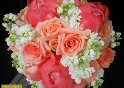Peach Wedding Bouquet 10