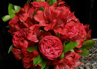 Red and Burgundy Wedding Bouquets 2