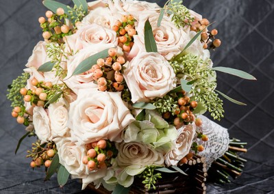 Peach Wedding Bouquet 7