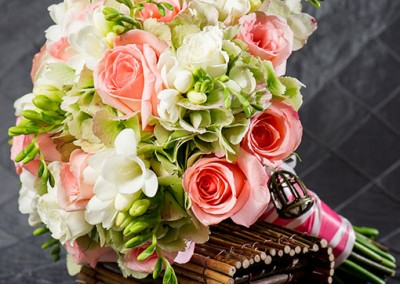 Peach Wedding Bouquet 6