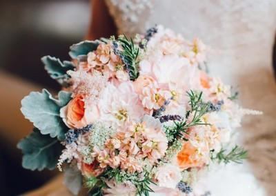 Peach Wedding Bouquet 21