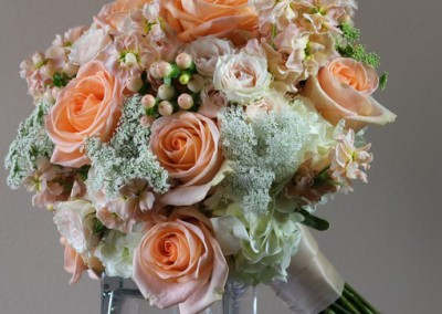 Peach Wedding Bouquet 3
