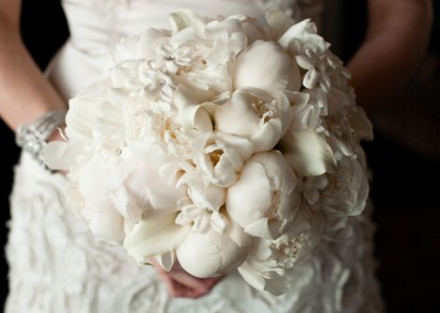 White and Ivory Wedding Bouquets