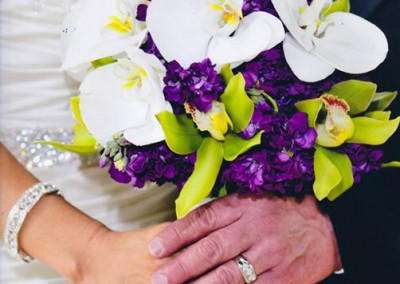 Green Iris Hand Tied Bouquet