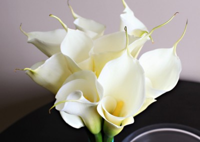 White Calla Lilly Bouquet – Hand-tied